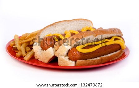 hotdog and mustard