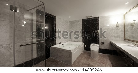 Hotel bathroom interiors