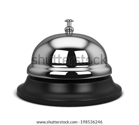 Hotel bell. 3d illustration isolated on white background