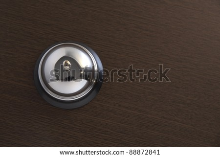hotel bell.top view with copy space - stock photo