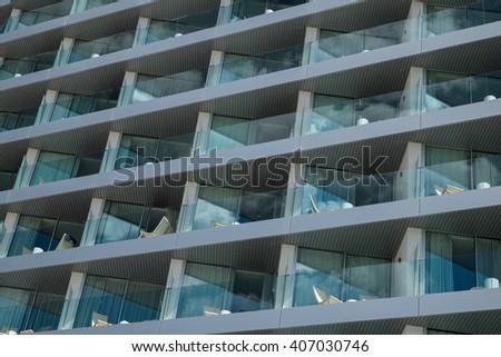 Hotel building exterior - stock photo