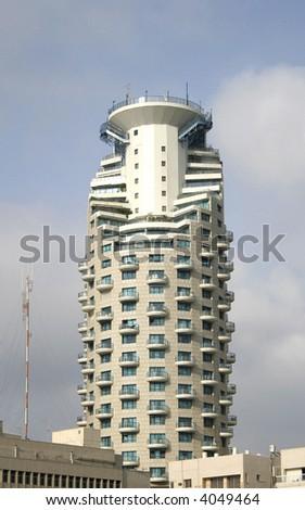 hotel building in tel aviv israel - stock photo