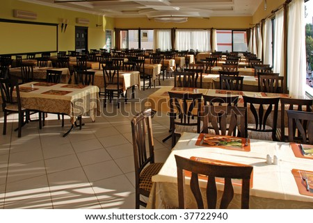 Hotel canteen - stock photo