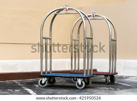 Hotel cart - stock photo