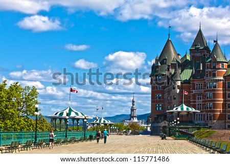 hotel Chateau Frontenac quebec city canada - stock photo