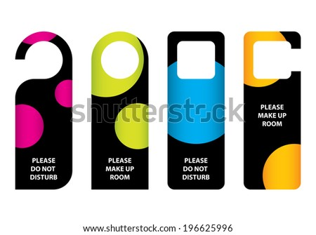 hotel do not disturb door hanger with special dotted design - stock photo