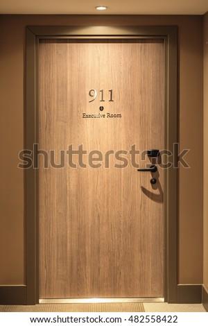 Hotel door number close up image & Hotel Door Number Close Image Stock Photo (Royalty Free) 482558422 ...