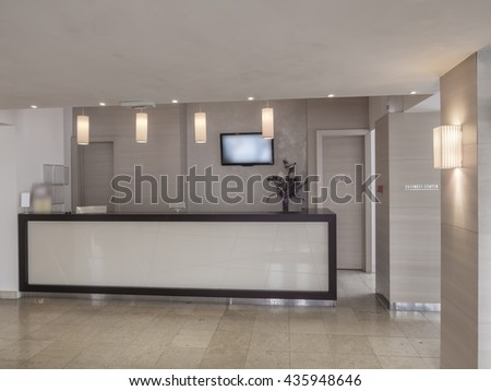 Hotel entrance hall - stock photo
