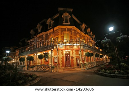 hotel  in niagara on the lake ontario - stock photo
