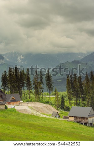 Hotel in the Mountains. Tatra Mountains in Poland.