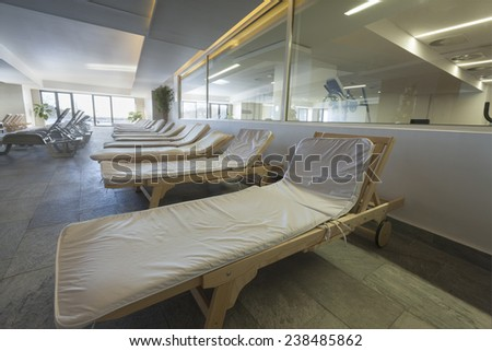 hotel interior spa pool - stock photo