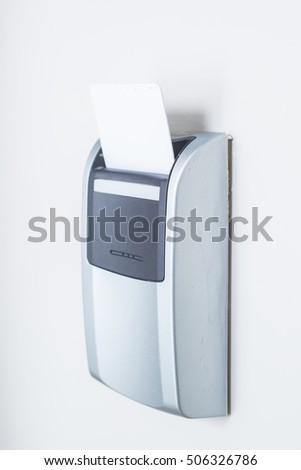 Key Code Lock Isolated On White Stock Photo 594429875