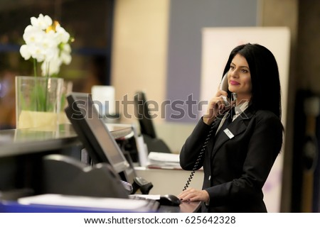 Hotel Receptionist Modern Luxury Hotel Reception Stock ...