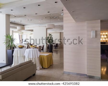 Hotel restaurant interior - stock photo