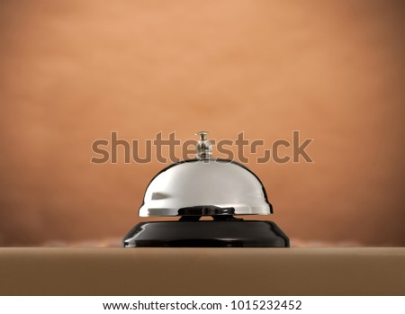 Hotel ring on wooden table