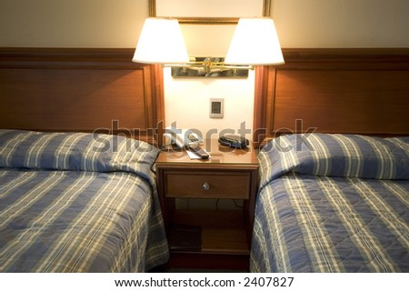 hotel room suite with desk guatemala city central america - stock photo