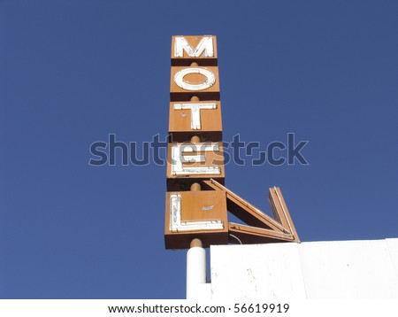 Hotel sign in United States of America - stock photo