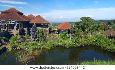 Hotel with ghost on island Bali                       - stock photo
