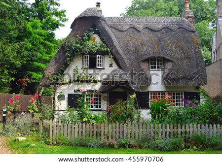 thatched cottage stock images royalty free images vectors shutterstock. Black Bedroom Furniture Sets. Home Design Ideas