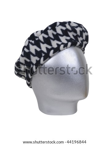 Houndstooth driving cap for leisurely drives through the countryside - path included - stock photo