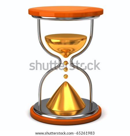 Hourglass. Concept of time. - stock photo
