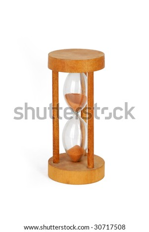 Hourglass (half), isolated with clipping path - stock photo