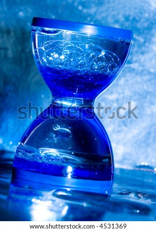 hourglass in blue color