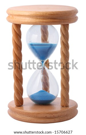 hourglass isolated with clipping path
