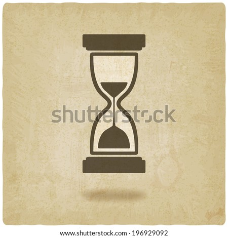hourglass old background - stock photo