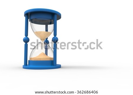 hourglass on a white background - stock photo