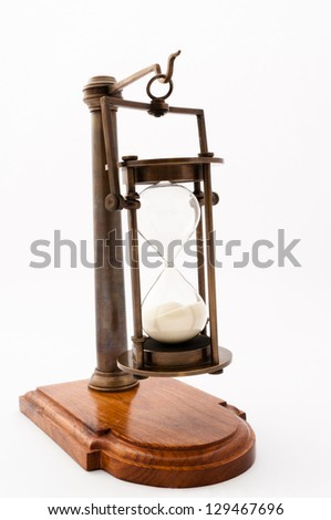 Hourglass Ran Out of Time - stock photo