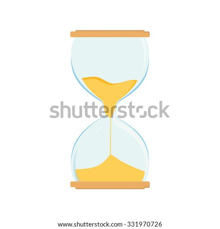 Hourglass raster icon. Sand watch. Sand glass. Sand clock