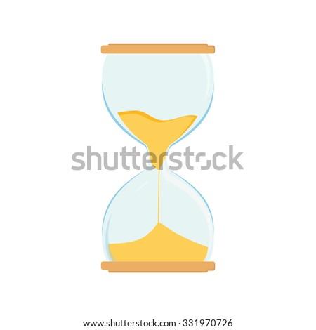 Hourglass raster icon. Sand watch. Sand glass. Sand clock - stock photo