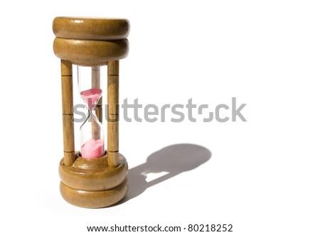hourglass sand of time - stock photo