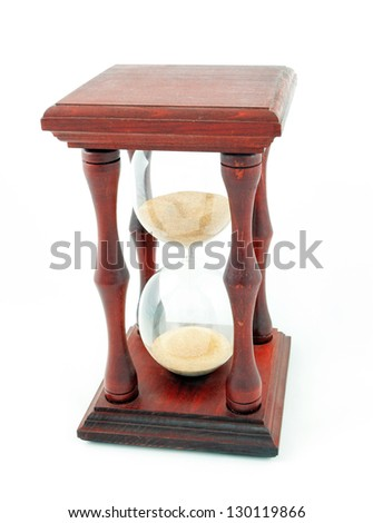 Hourglass, sandglass, sand timer, sand clock isolated on the white background - stock photo