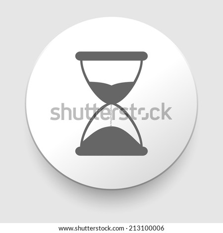 Hourglass time icon isolated on white background. illustration