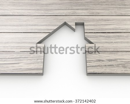 House abstract wooden