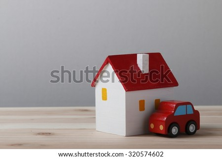House and car - stock photo