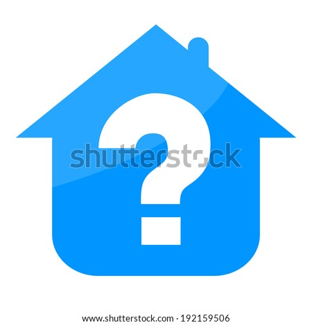 House and question mark - stock photo