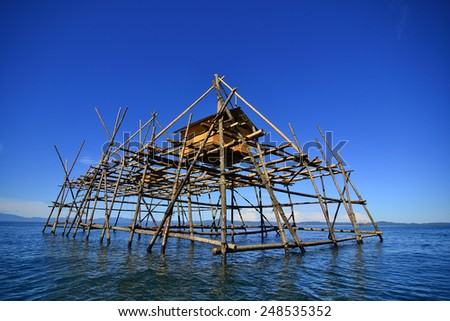 House and sea - stock photo
