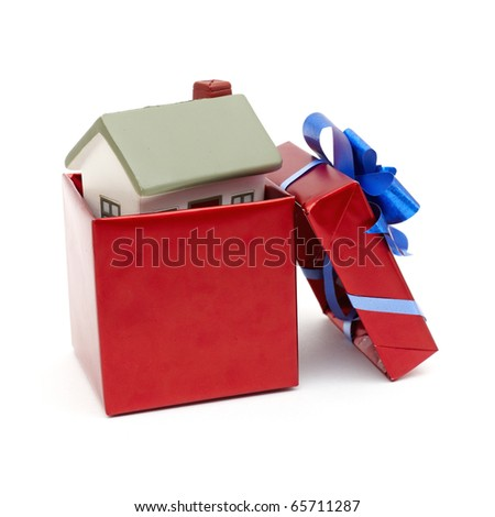 House as a gift for you. - stock photo