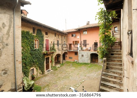 House at the old village of Carabietta on the italian part of Switzerland