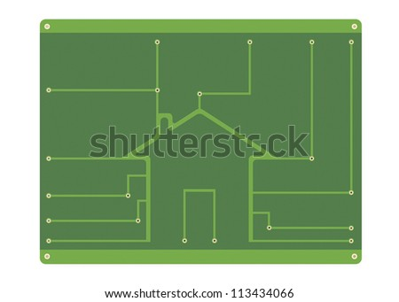 House Background Printed Circuit Board