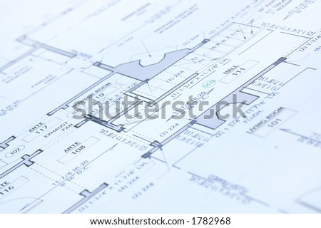 house blue print close up