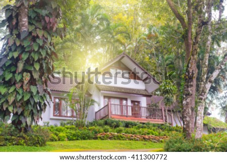 house blur background - stock photo