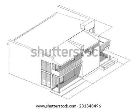 house building background