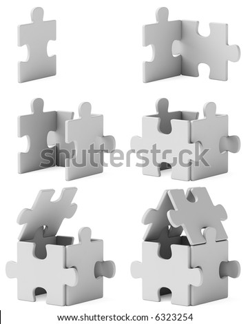 house, consequent assembly - stock photo