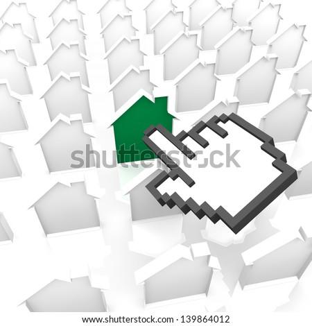 house cursor - stock photo