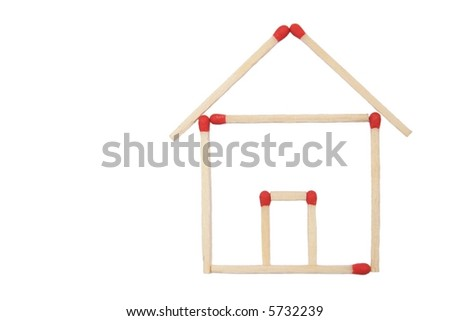 house 2 D 1 - stock photo