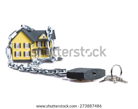 House, Debt, Residential Structure. - stock photo